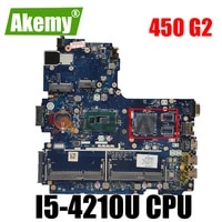 768146 601 768146 501 for hp probook 450 g2 laptop motherboard la b181p with i5 4210u cpu heatsink mb 100 tested fast ship