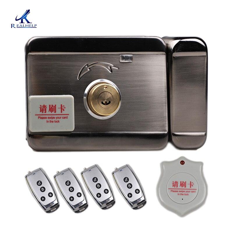 DC12V lock Automatische Swipe Card System 125KHZ RFID Smart Lock Keycard Eintrag Systeme 1000 Benutzer Keyless Lock Fabrik