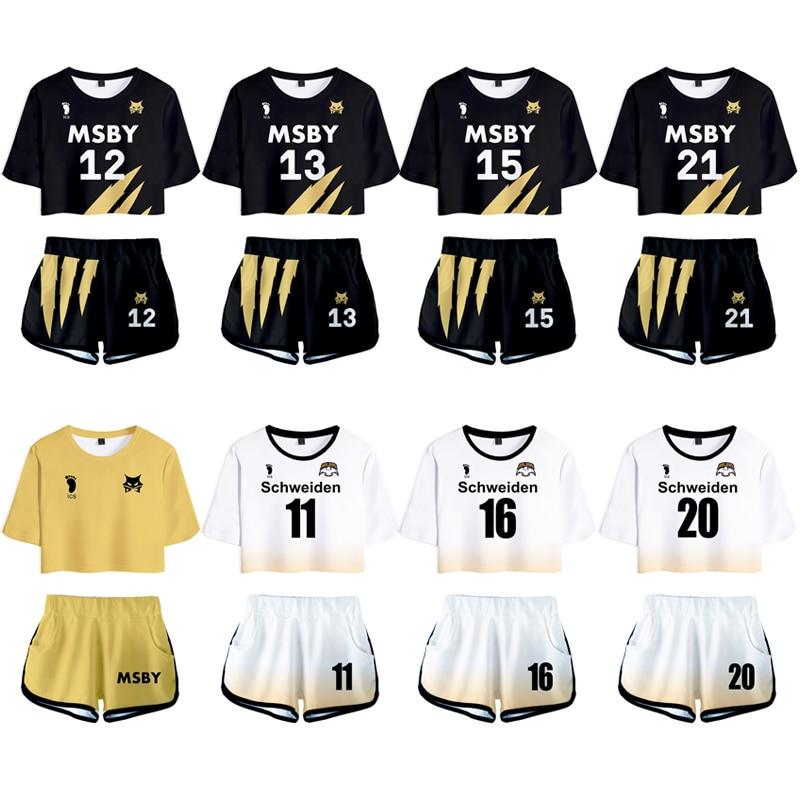 Haikyuu shoyo hinata camisa shorts cosplay traje kotaru bokuto camisa uniforme dos esportes dos homens do ensino médio msby clube de voleibol