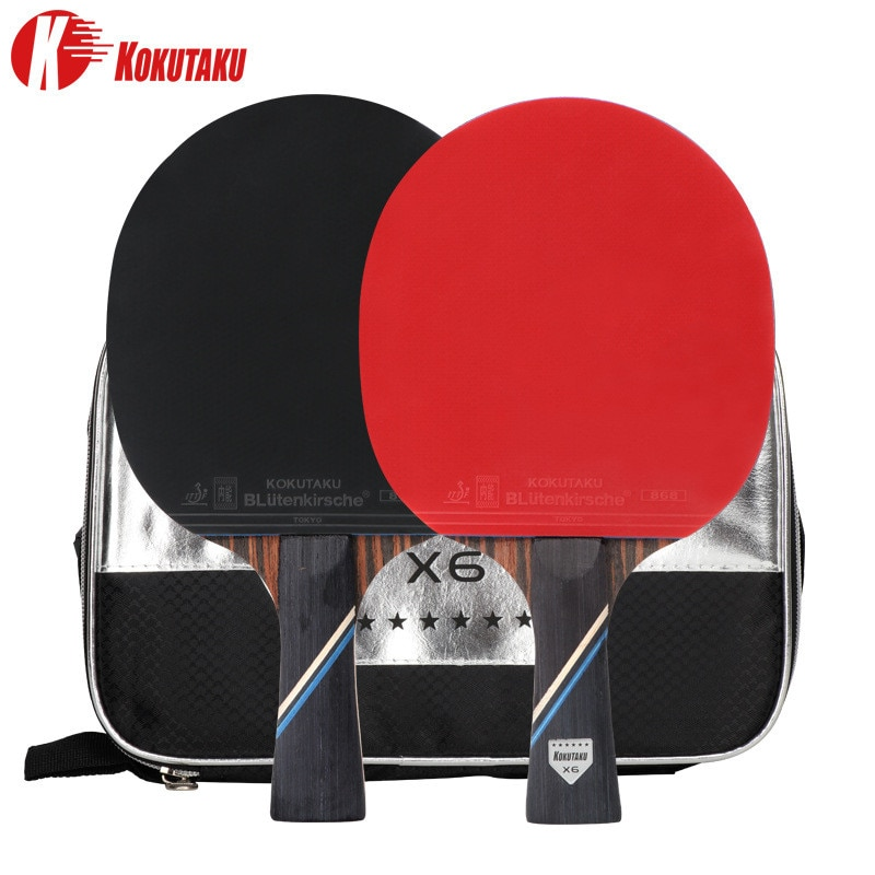 KOKUTAKU ITTF professional 4/5/6 Star ping pong racket Carbon table tennis racket bat paddle set pim