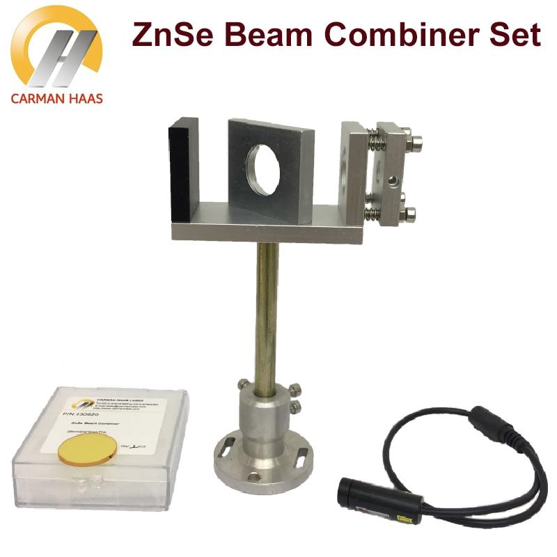 Beam Combiner Set 20/25mm ZnSe Laser Beam Combiner + Mount + Laser Red Pointer for CO2 Laser Engraving Cutting Machine