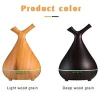 Diffuseur daromatherapie de Grain de bois de 400ML  humidificateur dhuiles essentielles pour la maison  les Branches de bureau  diffuseur darome avec lumieres colorees