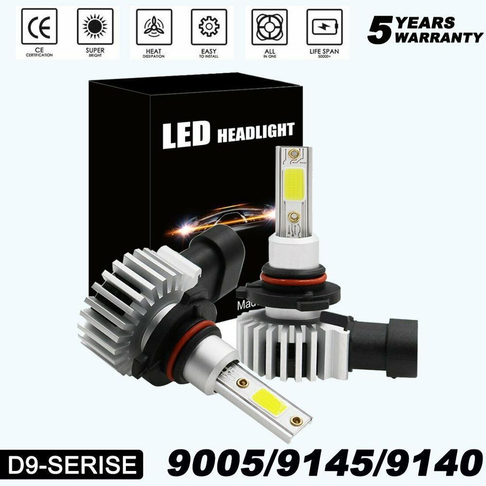 9005 (HB3) ultra Mini LED Farol Lâmpadas Tudo-em-Um Kit de Conversão-9145 9140 H10 20000LM 6000K Legal branco 2020 Novo H7 H11 LEVOU