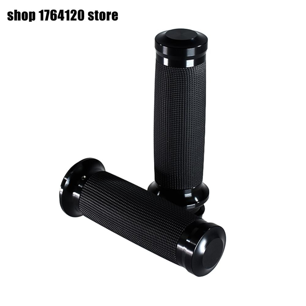 Motorcycle Electronic Throttle 1''25mm Handle Bar Hand Grips Black For Harley Softail Fat Boy FLSTF Breakout Touring Road King