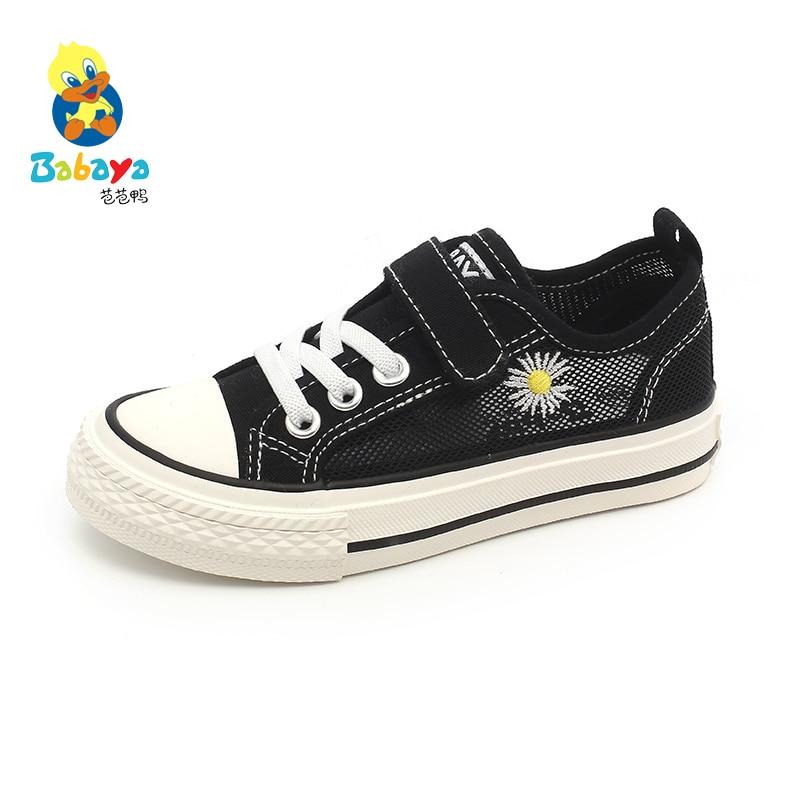 Babaya, zapatos de malla para niños, zapatillas para niños, Daisy Flower Boy 2020, novedad de verano, zapatillas de lona transpirables con huecos para niñas, red