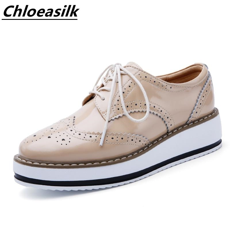 Autumn New Style Heighten Leather Shoes Women Sports Deep mouth Loafer Leather Casual Platform Singl