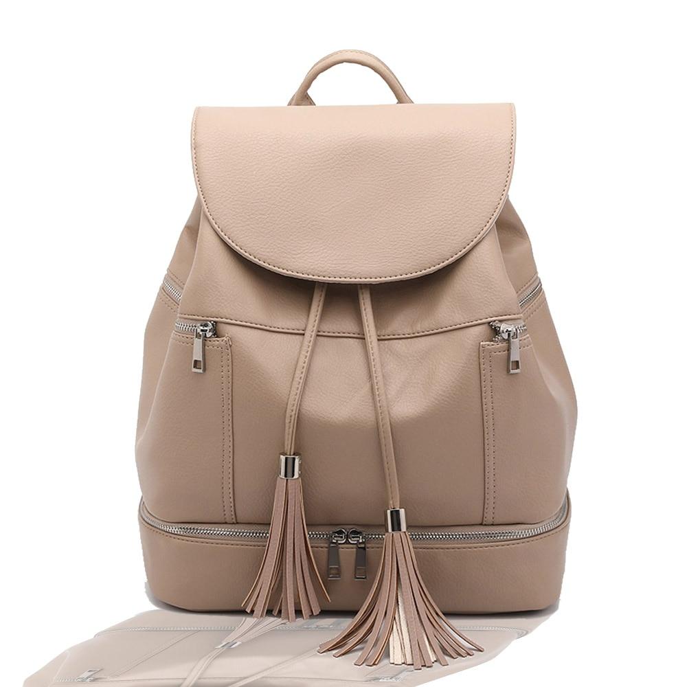 Fabricante de la fuente proporciona directamente un nuevo punto, mochila de PU resistente al agua personalizada, bolsa de bebé madre saliente, hombros