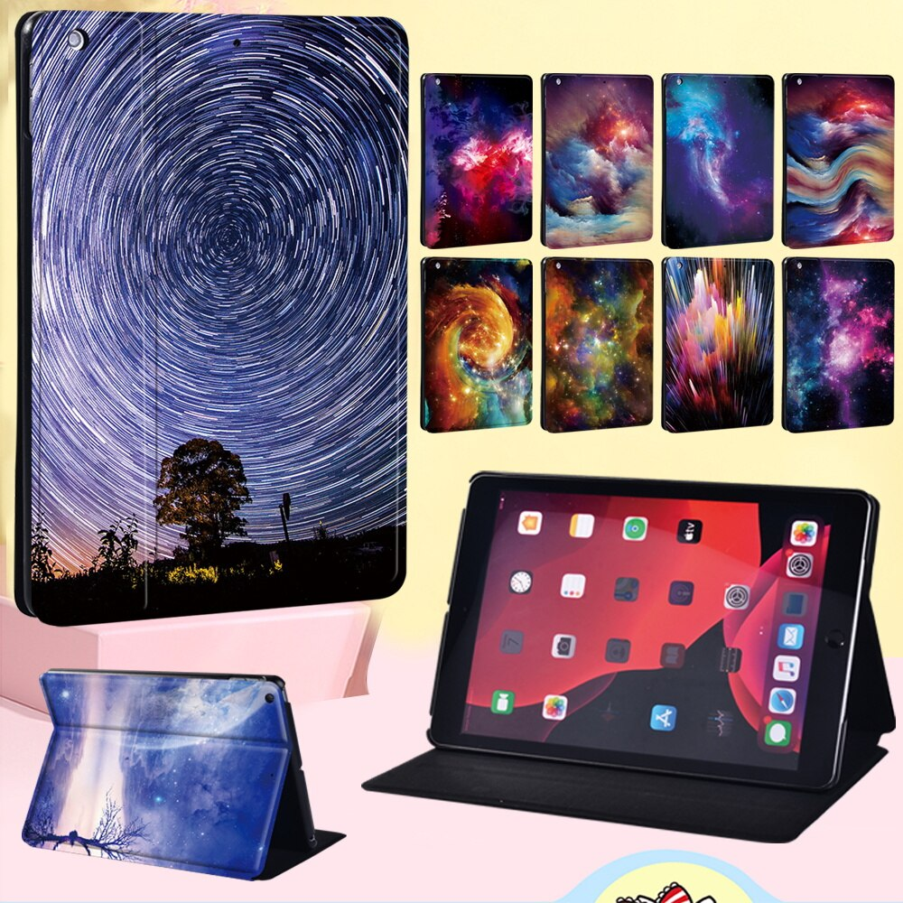 Protective Case for Apple IPad 2 3 4/iPad (5th Gen/6th Gen/7th Gen)/Air/Air 2/Air 3 Anti-fall Space Series Leather Tablet Case