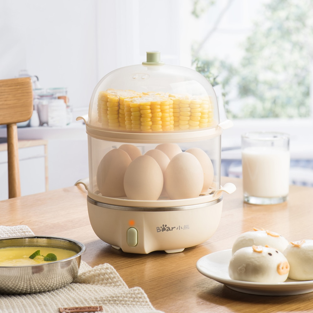Hervidor eléctrico multifuncional de huevos de 220V, máquina de desayuno, natilla de huevo al vapor, maíz hervido, huevo al vapor, leche para el desayuno