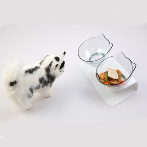 Cat Bowls Non-slip Cute Double Pet Bowls With Raised Stand Pet Food and Water Bowls For Cats Dogs Feeders Pet Products Cat Bowl