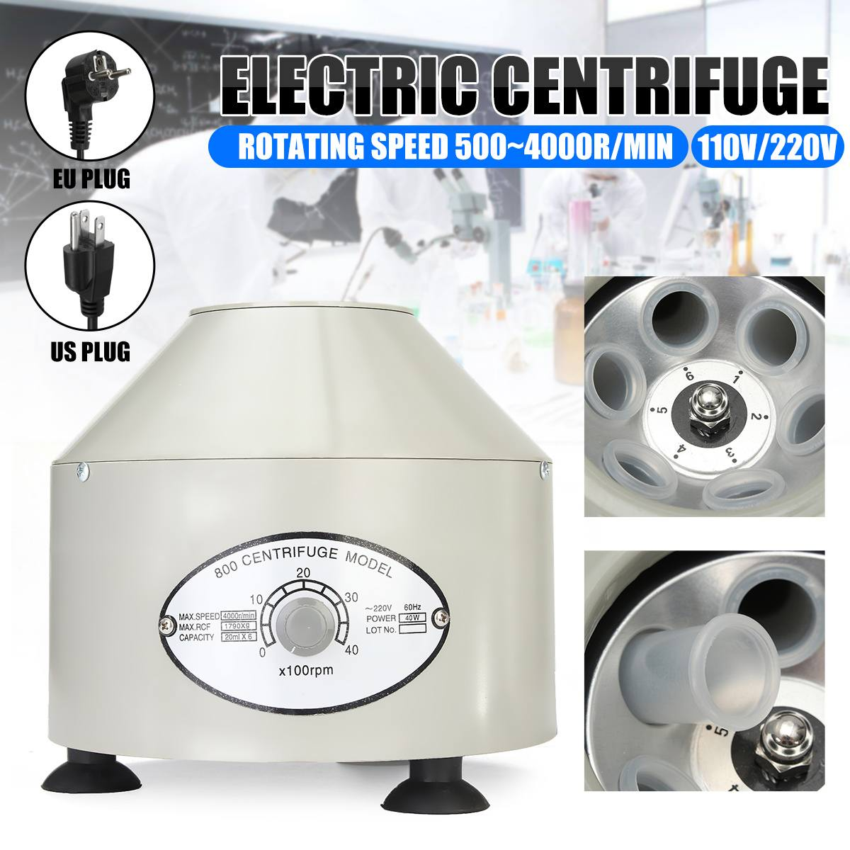 Electric Centrifuge Medical Practice Machine Supplies Prp Isolate Serum Centrifuge Tube Bubble Remov
