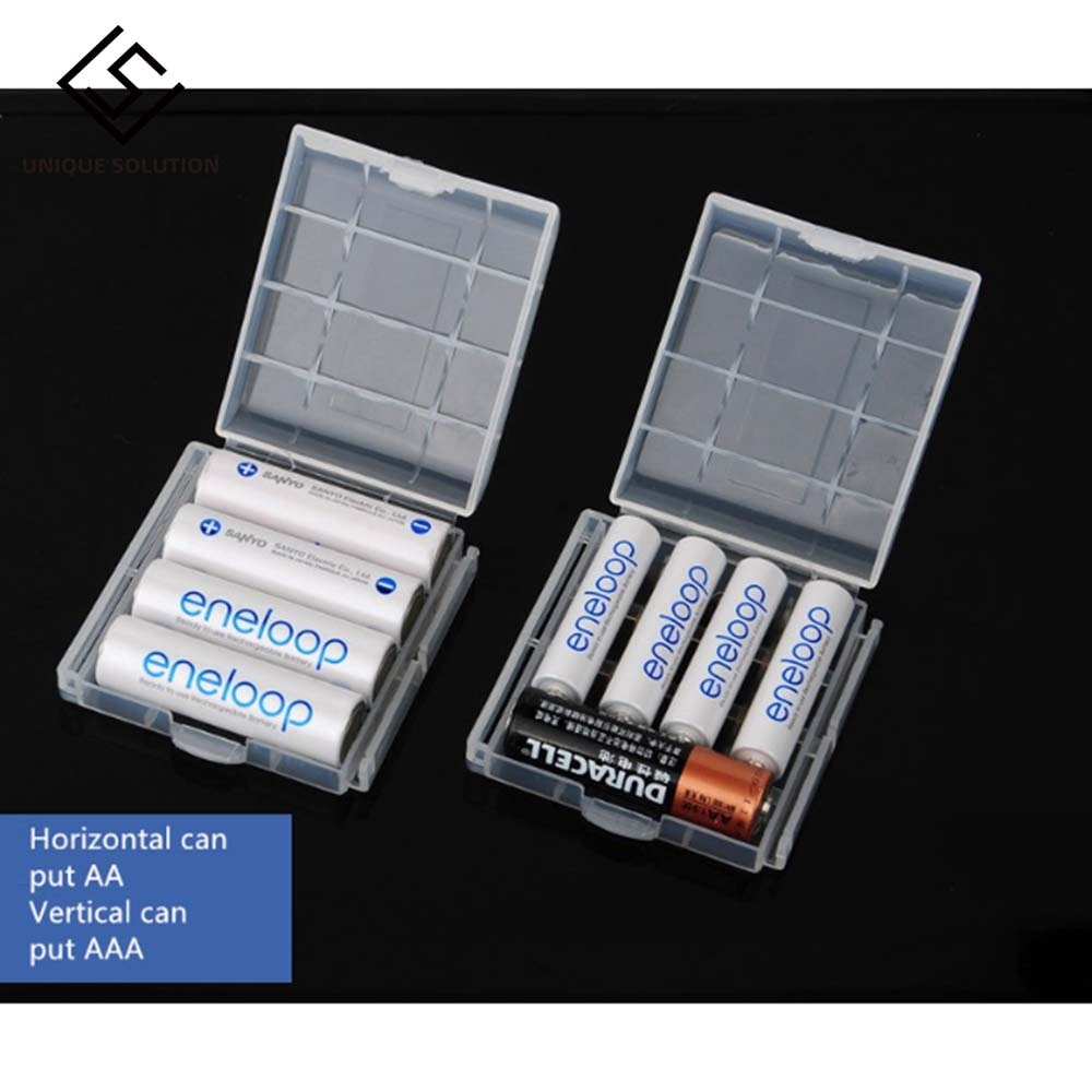 10 Pcs Plastic Case Holder Storage Box Cover For Rechargeable AA And AAA Batteries NC99