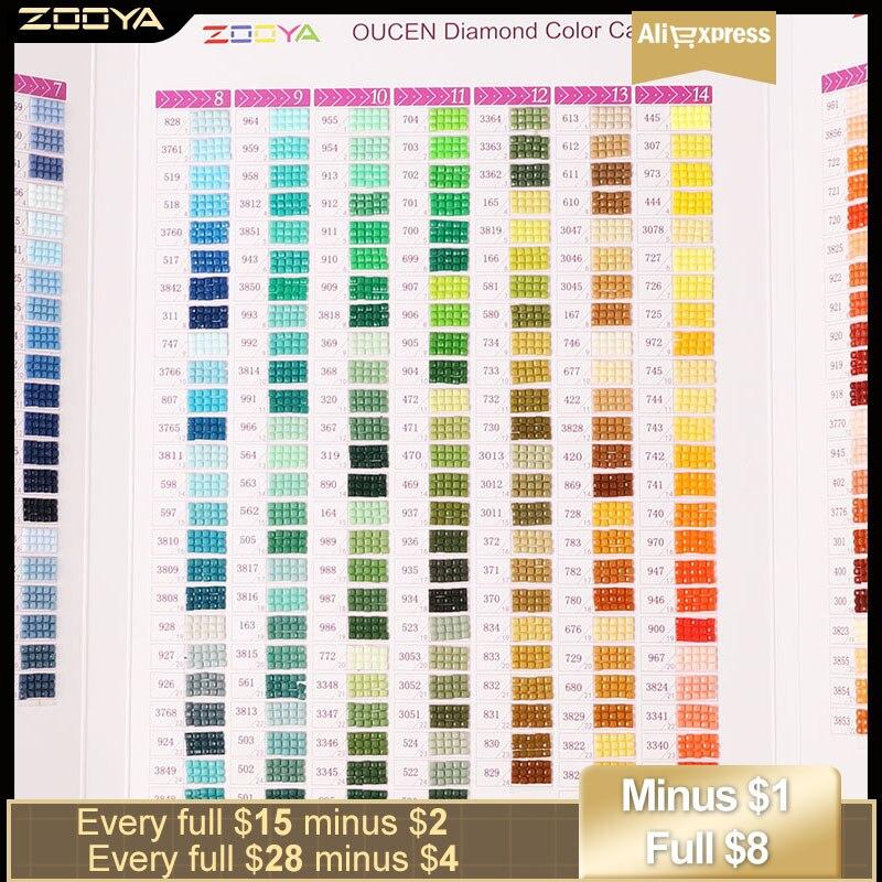 Zooya 5d diy pintura diamante gráfico de cores quadrado/redondo diamante bordado dmc gráfico terminado