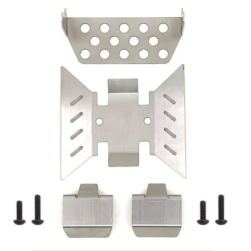 4PCS Stainless Steel Axle Protector Chassis Armor Skid Plate for RC Crawler Axial SCX10 III AXI03007 Upgrade Parts enlarge