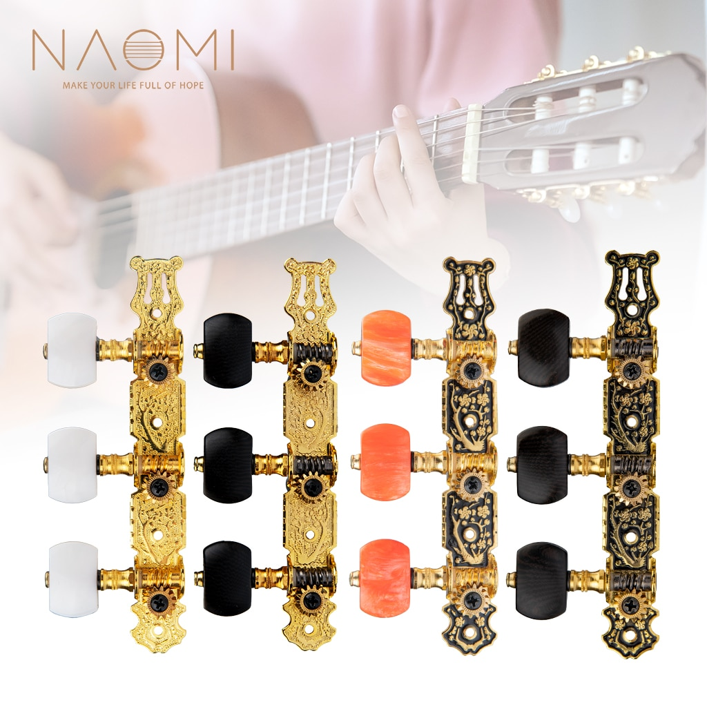 NAOMI Alice AO-020HV2P/AO-020B1P/AO-020V3P/AO-020HV3P 1:14 Gold-plated Classical Guitar Tuners Tuning Key Pegs/Machine Heads