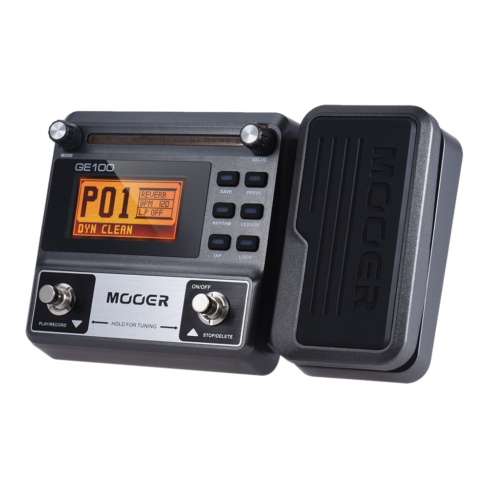 Mooer Ge100 Pe100 Multi-Effects Pedal Guitar Accessories with Lcd Display 3 Minutes Loop Recording 23 Distortion Pedalboard enlarge