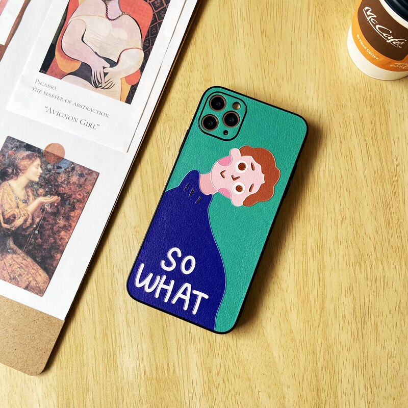Creativity Cartoons Shockproof  Silicone Phone Case For iPhone 11 Pro Max XS SE 2020 X XR 7 8 Plus Luxury Leather Soft Cover enlarge