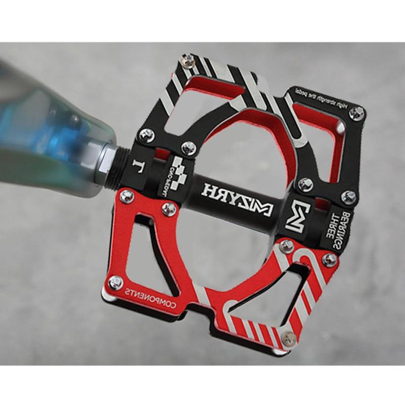 Pedales de bicicleta MZYRH, 3 rodamientos, ultraligeros CNC, pedales planos sellados para BMX ciclismo MTB, accesorios para deportes de ciclismo
