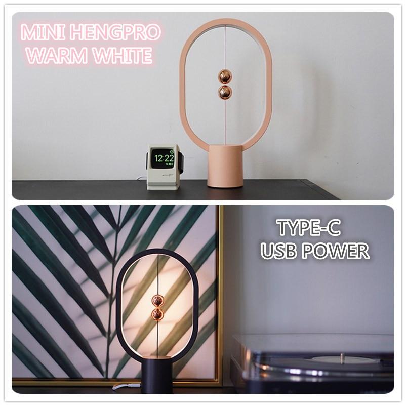 2021 أحدث USB بالطاقة البسيطة هنغ القطع الناقص المغناطيسي منتصف الهواء التبديل ليلة ضوء التوازن LED الجدول مصباح مكتب ديكور المنزل