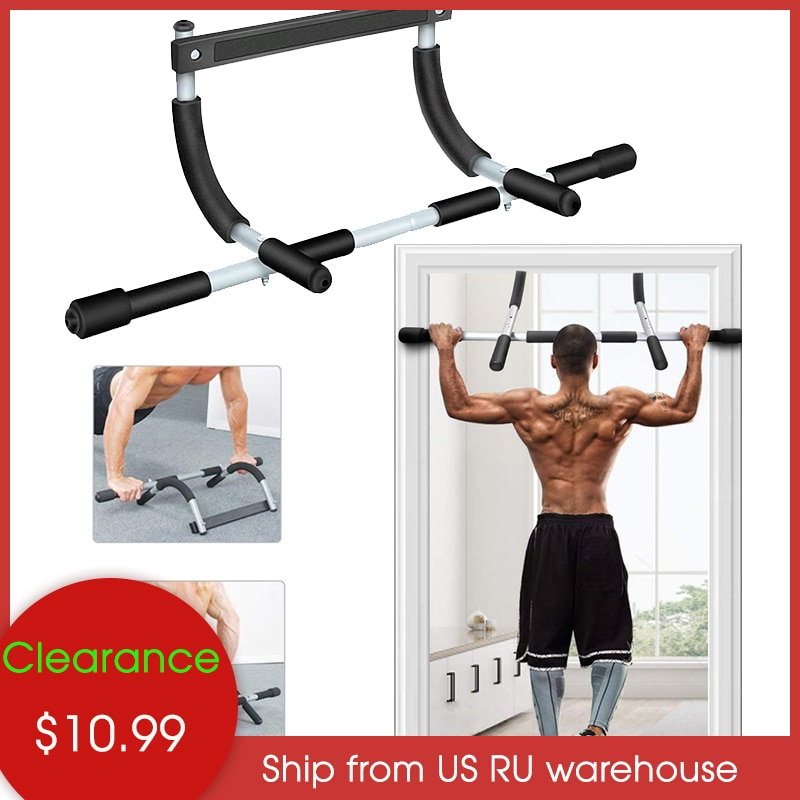 Indoor Fitness Door Frame Pull Up Bar Wall Chin Up Bar Adjustable Training Horizontal Bar Home Adults Workout Fitness Equipments