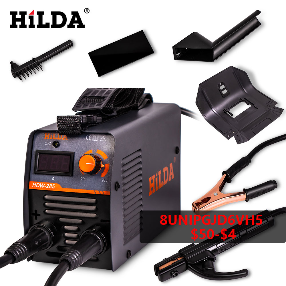 HILDA Arc Welders Welding Equipment Portable Welding Machine DC Inverter ARC Welder 220V for Home Beginner Lightweight Efficient