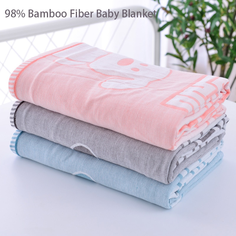 98% бамбуковое волокно, супер мягкое детское одеяло, муслиновое Пеленальное игровое одеяло, детское одеяло для вехи, детское одеяло, одеяло, и...