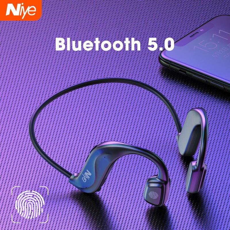 Auriculares TWS Auriculares inalámbricos con Bluetooth con forma de conducción ósea, manos...