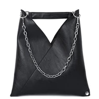 2021 new large capacity pu leather hobo handbag women chain tote bag casual laptop office luxury shoulder bag black crossbody