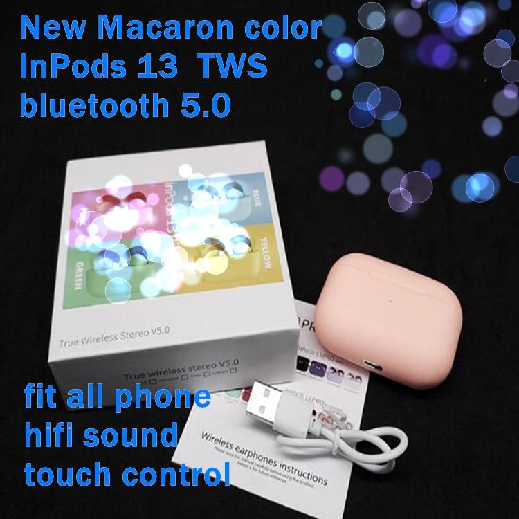 Nuevo Macaron inPods 13 auriculares inalámbricos Bluetooth deporte Gaming auriculares inalámbricos IOS Android pk inpods 12 TWS i9 i12tws