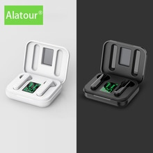 Alatour Wireless Headphones Bluetooth 5.0 Earphones Sport LED digital display Headset  Charging box