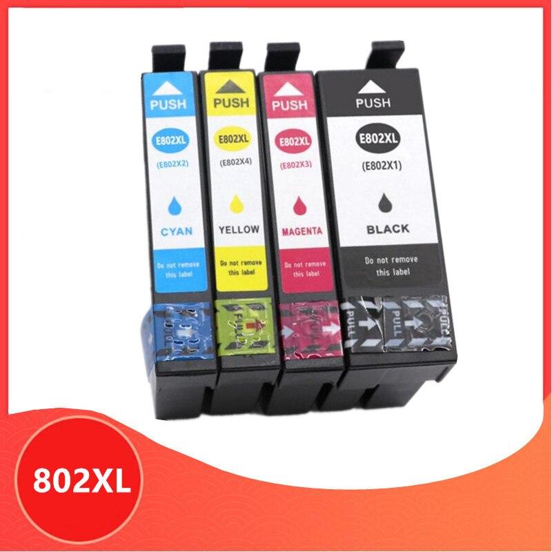 Совместимый чернильный картридж для Epson 802XL T802XL T802 802 для рабочей силы WF-4720 WF-4730 WF-4734 WF-4740