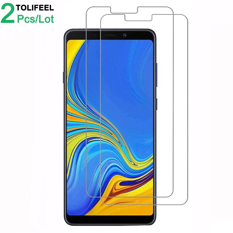 2Pcs Tempered Glass For Samsung Galaxy A9 2018 Screen Protector 9H 2.5D Phone On Film Protective Gla