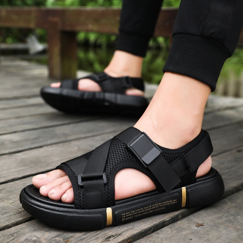 Mens Beach Sandals Men Roman Style Platform Sandals for Men Casual Shoes Summer Sandals Fashion Cheap Shoes Man Ledersandalen