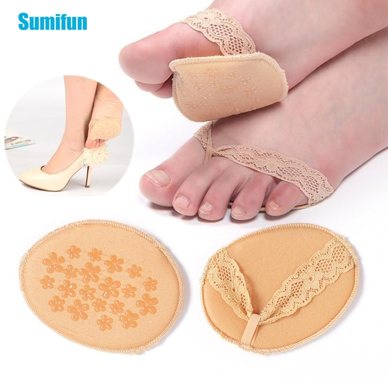 2pcs/1pair Female Invisible High Heel Pads Breathable Forefoot Insole Cushion Women Foot Pads Anti-S