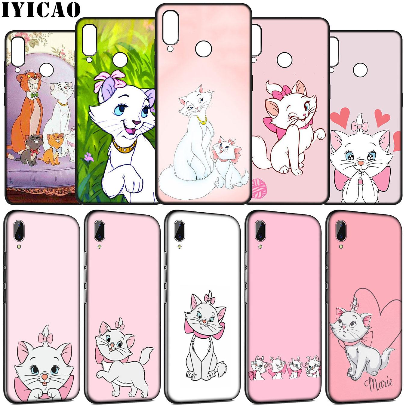 IYICAO The AristoCats Marie Gatos cat Soft Case para Huawei Y9 Y7 Y6 Prime 2019 Honra ver 20 8C 8X8 9 9X10 Lite 7C 7X 7A Pro