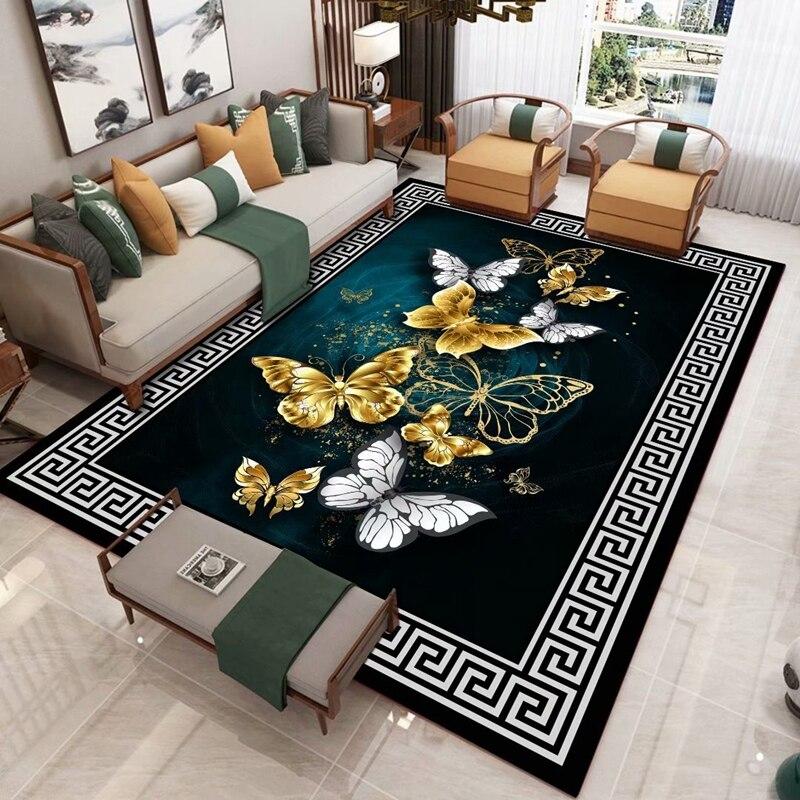 النمط الصيني السجاد شعبية المنزل جديد النمط الصيني الاتجاه الرئيسي غرفة المعيشة أريكة و طاولة شاي السجاد غرفة نوم حصيرة أرضية الغرفة