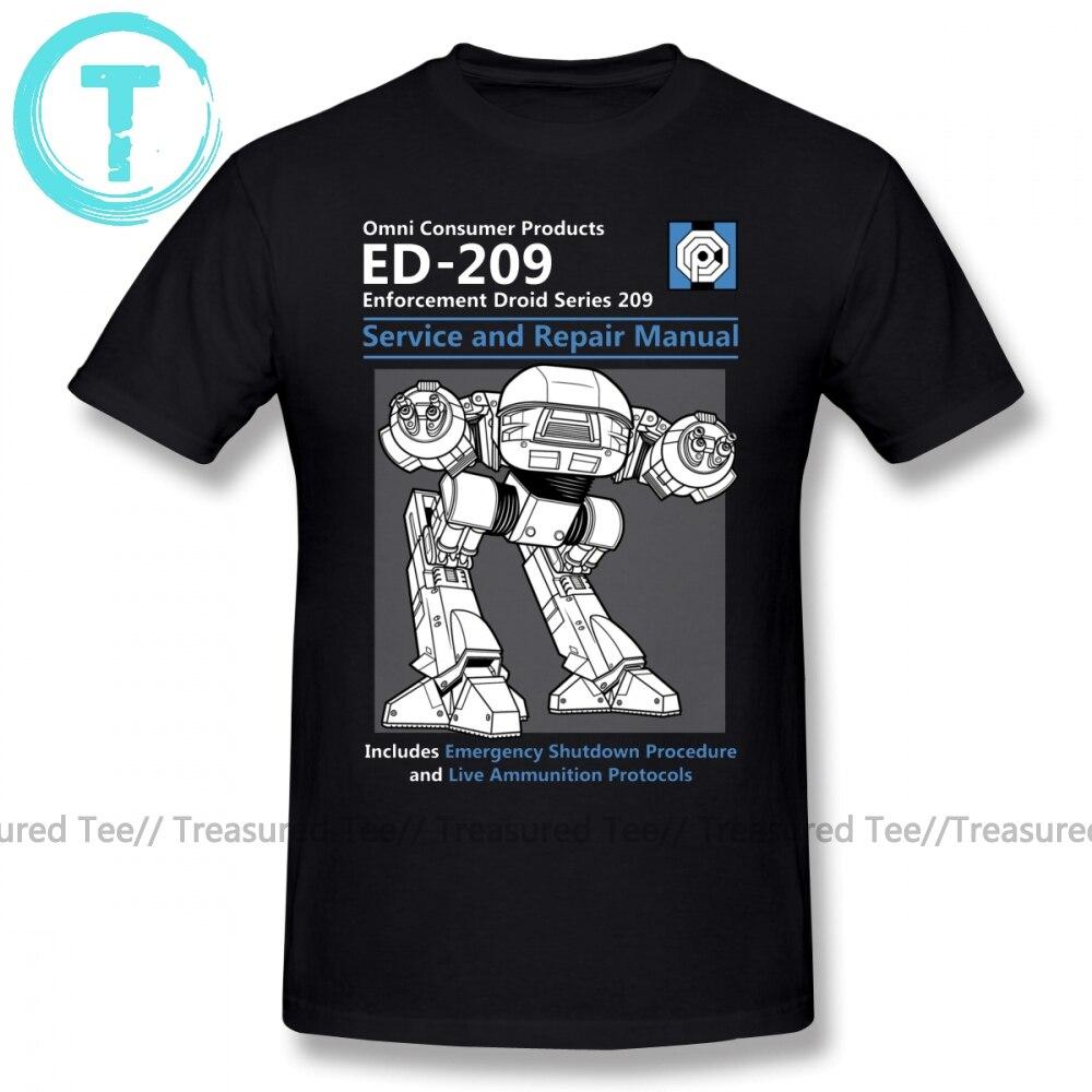 Robocop T Shirt Service And Repair Manual T-Shirt 4xl Printed Tee Shirt Men Awesome Cotton Short Sleeve Casual Tshirt