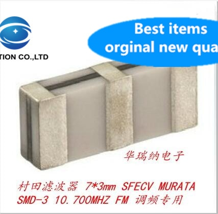 10 Uds 100% original nuevo SFECV10M7CQ0C01-R0 10,7 M 10,7 MHZ 7X3 SMD-3 Filtro de sierra MURATA