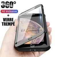 coque housse etui total 360 for iphone 786sxrxxsmax1112pro verre ecran