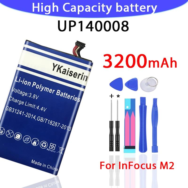 Baterías de 3200mAh para Foxconn InFocus M2 batería UP140008 nuevo disponible infocus m2 batería