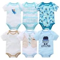 2021 summer unisex newborn baby boy clothes unicorn cotton 6pcs baby girl clothes cartoon girls baby jumpsuits bodysuits