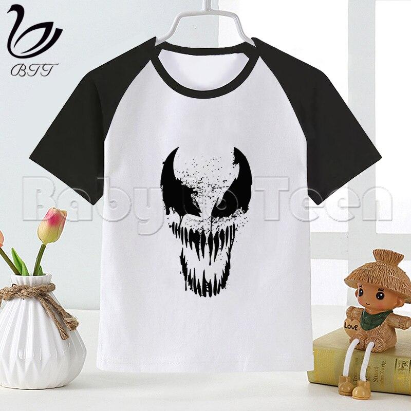 Veneno de hombre araña Marvel niños bebé niño niños camiseta de moda de dibujos animados de manga corta Camiseta ropa divertida chicas camiseta Tops