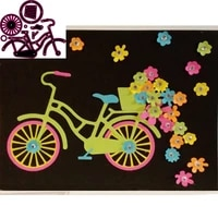 new metal cutting die for bicycle scrapbook paper gift card diy decorative molding template