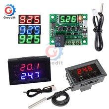 Regulador de temperatura del termostato Digital DC 12V W1209WK W1209, caja del medidor del Sensor NTC