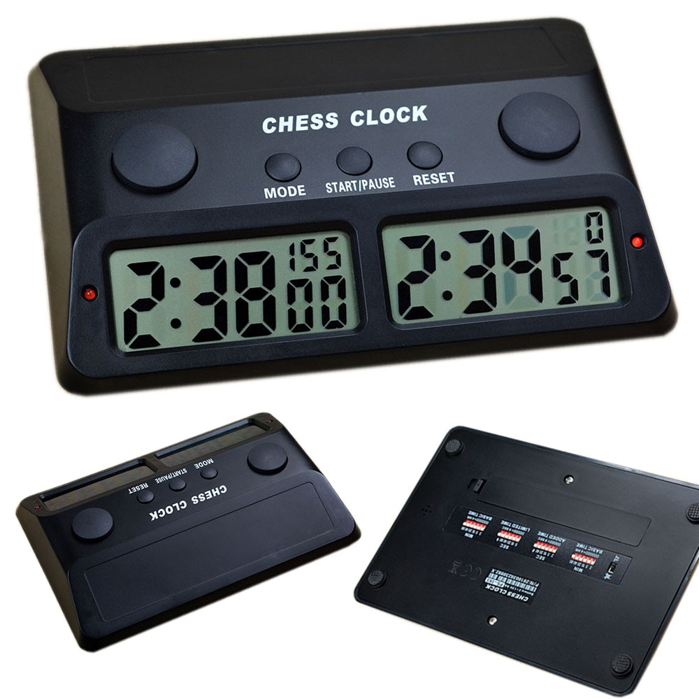 Reloj de ajedrez temporizador Digital Master Tournament 3 en 1 temporizadores para ajedrez chino IGO
