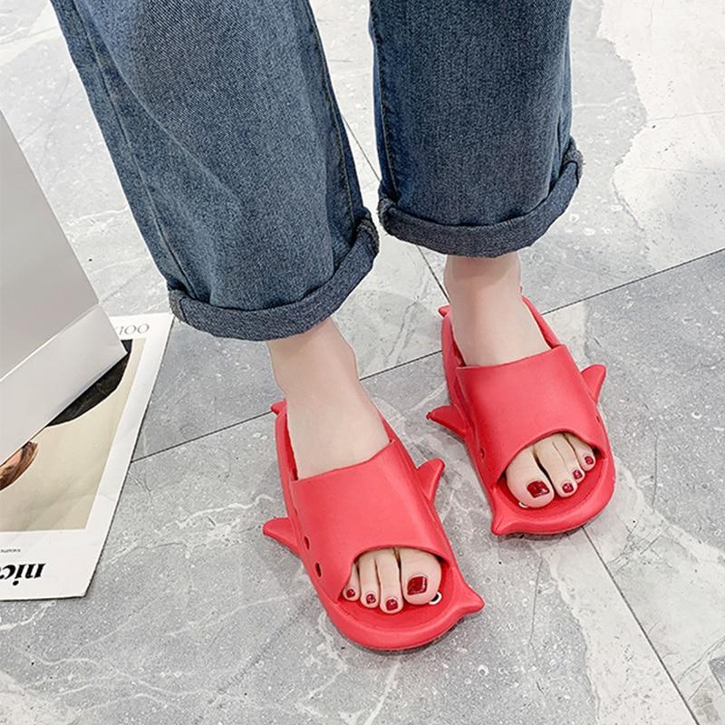 2020 Sunmmer Women Flat Slippers For Home Female Platform sweet Fashion New Beach Shoes Women's Open Toe Solid Woman Footwear
