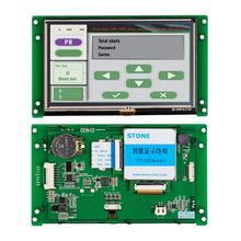 Garantie de 3 ans! Écran tactile industriel HMI de 5 pouces LCD avec Interface série + conception CPU + GUI