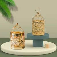 golden hollow metal cylinder candle holder nordic cage iron candlestick holder lantern decor modern home decoration craftwork