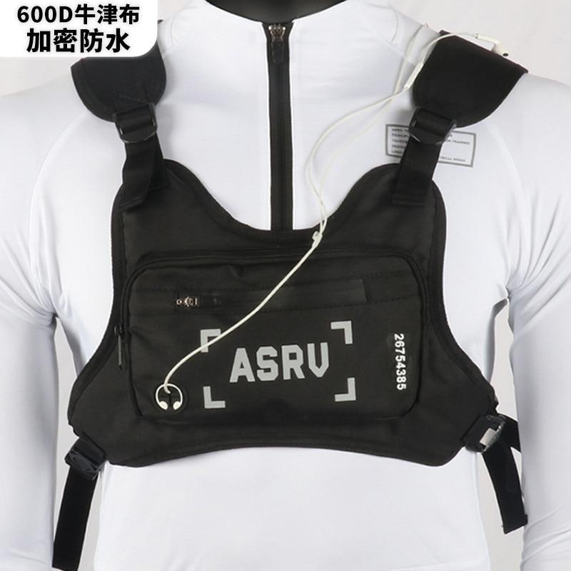Mochila táctica ASRV multifuncional para exteriores, mochila de nailon resistente al desgaste, bolsa impermeable para teléfono móvil, bolsa de montar