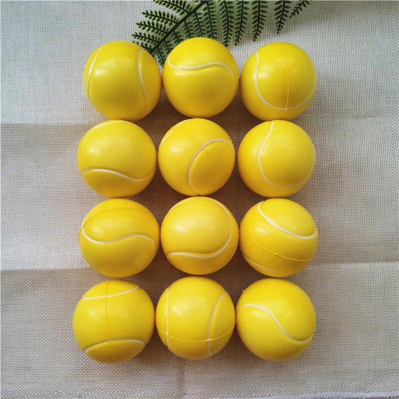 12 teile/los Baby Spielzeug Tennis Squeeze Bälle Weichen Pu-schaum Anti Stress Outdoor Spiele Spielzeug für Kinder Kinder 6,3 cm